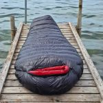 BlackCrag goose down sleeping bag jetty by the sea