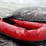BlackCrag goose down sleeping bag closeup opening